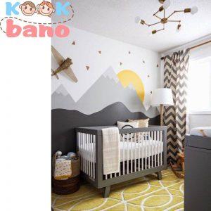 تزیین اتاق کودک با رنگ جدید و کاغذ رنگی: