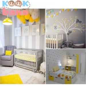 رعایت ایمنی در دکوراسیون اتاق خواب نوزاد پسر
