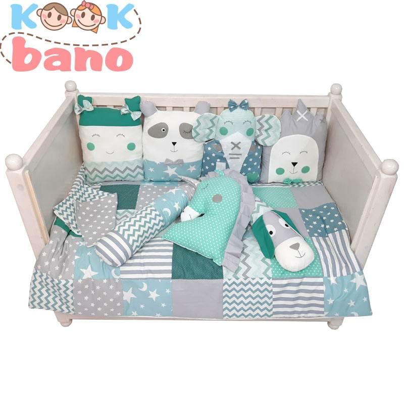 سرویس خواب نوزاد 8 تکه مدل Blinking Panda