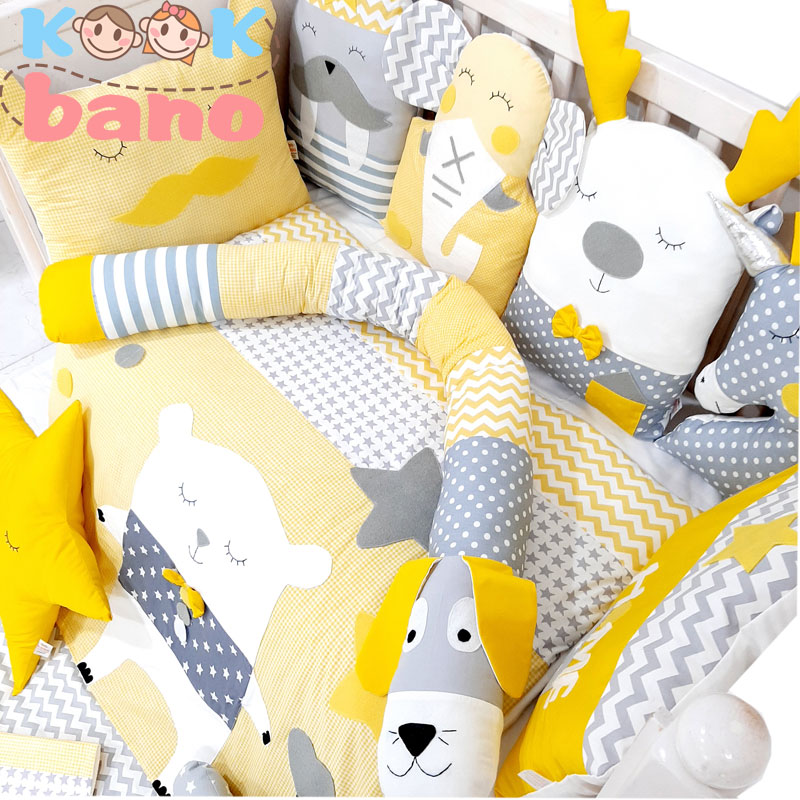 سرویس خواب نوزاد و کودک 12 تکه مدل Bear in Dream
