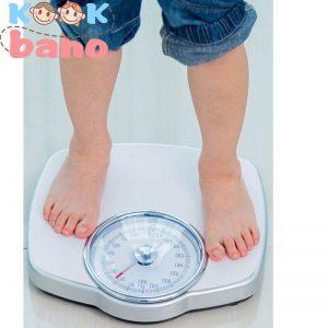 متوسط وزن کودک در سالهای مختلف بر اساس منحنی رشد کودک به عنوان مثال: