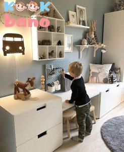 طراحی و تزیین اتاق کودک باکوسن های فانتزی طرح حیوانات: