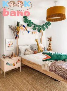 دیوار اتاق کودک می تواند تزیین های مختلفی داشته باشد کاغذ دیواری ها :
