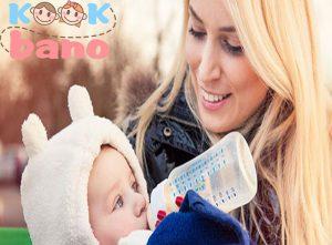 دادن شیر خشک همراه شیر مادر