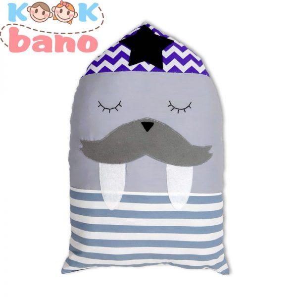 کوسن عروسکی محافظ تخت کودک طرح فُک یا شیر دریایی