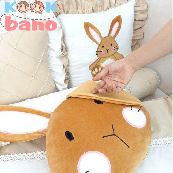 سرویس خواب 9 تکه کودک مدل Velvet Mustard Rabbit