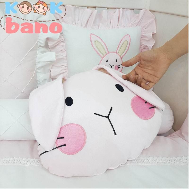 سسرویس خواب کودک 9 تکه مدل Velvet Pink Rabbit