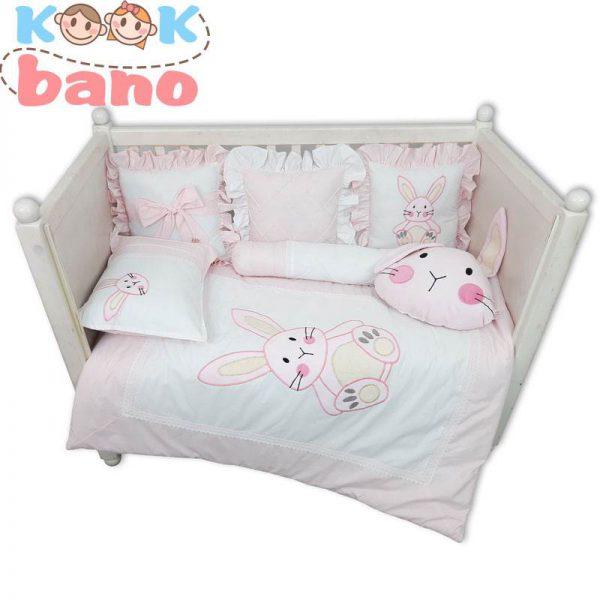 سرویس خواب کودک 9 تکه مدل Velvet Pink Rabbit