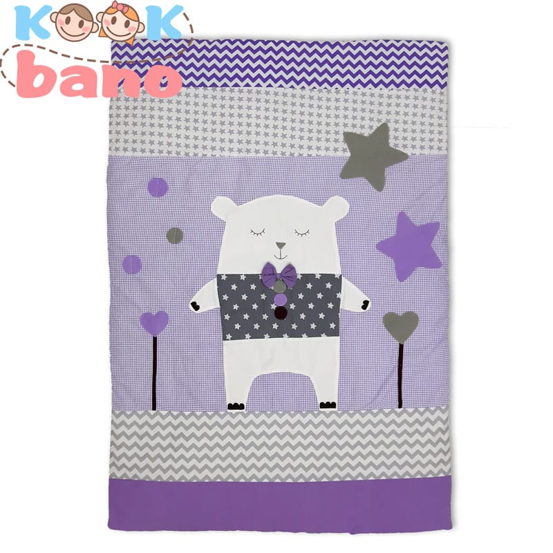 روتختی کودک و نوزاد تکه دوزی شده مدل Purple Magic Bear