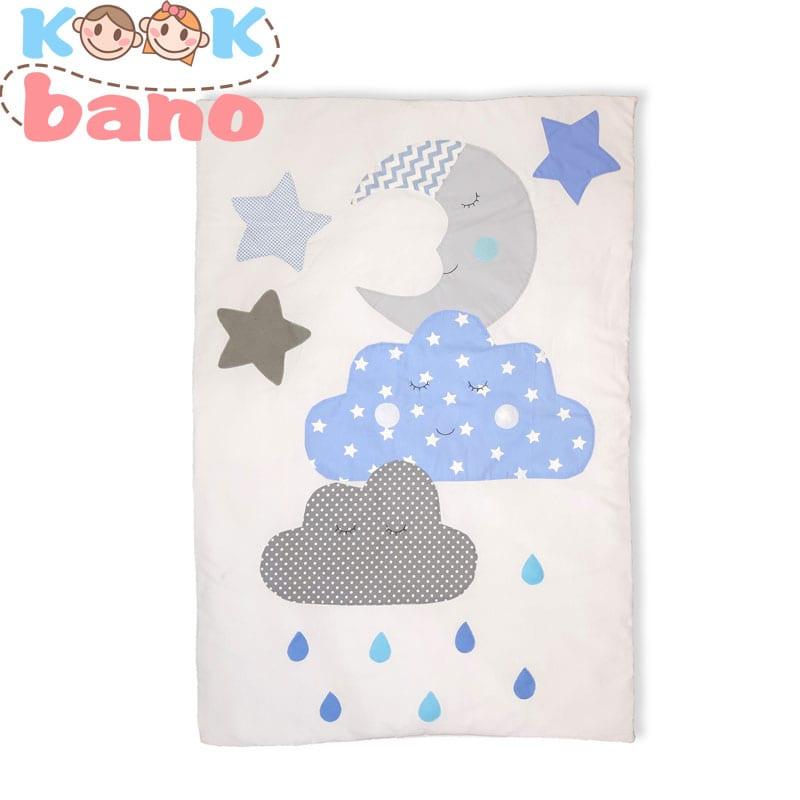 روتختی کودک و نوزاد تکه دوزی شده مدل Blue Moon & Cloud