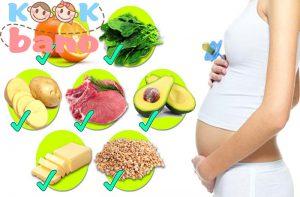 تغذیه مناسب در زمان بارداری: